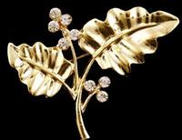 folha de ouro china venda por atacado-Novo Casamento Coreano Bridal Nupcial Azul Branco de Cristal Liga De Ouro Folha Broche Pinos Roupas Vestidos Chapéu Acessório DR