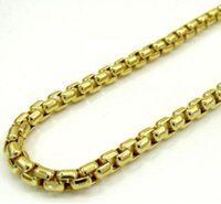 Wholesale Yellow Gold Chain 22 - Mens Womens 10K Yellow Gold Venetian Box Chain Necklace 16-22 Inch 1.5mm