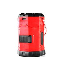 Wholesale emergency lights batteries online - 185Lumens Waterproof Portable Outdoor Camping Lantern solar Lamp Rechargeable Emergency Tent Light with USB Hook Battery lighting
