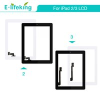 Wholesale iphone touch screen digitizer glass resale online - Touch Screen Front Glass Lens For iPad Digitizer Assembly Replacement Part White Black Color Free DHL