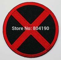 "Wholesale Black Animated - 3"" X-MEN X men Red Black Uniform Animate Film Movie TV Embroidered LOGO Iron On Patch Goth Punk Rockabilly"