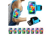 Wholesale Iphone Case Jogging - Universal Armband Case Sport armband Running Jogging Sports GYM Armband Case Cover Holder for iPhone Samsung WaterProof