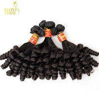 Natural Black Color spring curl hair - Double Drawn Aunty Funmi Virgin Hair Bouncy Romance Egg Spring Curls Grade A Unprocessed Brazilian Loose Curly Human Hair Weave Bundles