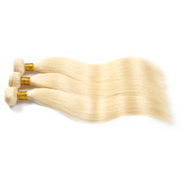 Wholesale Hot Bleach - Brazilian Body Wave Hair Grade 8A Color #613 Bleach Blonde Human Hair Weave Bundles Brazilian Hair Extensions 3Pcs 8-30 Inch hot sell