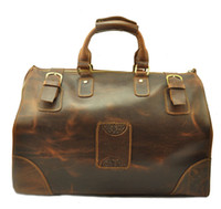 Wholesale Brown Leather Luggage - Crazy Horse Leather Man Duffel Bag Weekend Bag Luggage Bag Wholesaler Welcome Factory Supplier Best Quality OEM Logo Welcome