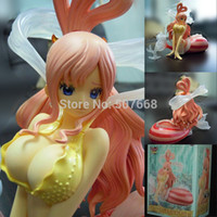 Wholesale One Piece Shirahoshi - Anime One Piece Little Shirahoshi 10pcs lot PVC Action Figure Collectible Toy 19CM