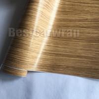 Wholesale Wood Contact Paper - SimpleLife4U Wood Grain Contact Paper Self Adhesive Shelf Liner Car Vinyl WRAP   Table Door Sticker 1.52x20m Roll 5X67ft