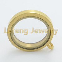 Wholesale Green Float Glass - Fashion Jewelry Pendants 30mm Matt Silver Gold Rose Gold Twist Floating Charm Locket,316L Stainless Steel Glass Photo Screw Lockets Pendant