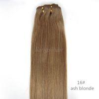 6a sınıf saç toptan satış-Hint Saç Uzantıları Brezilyalı Hint Malezya Perulu İnsan Saç Dokuma Düz Saç Atkı Sınıf 6A 100g 1 adet 14