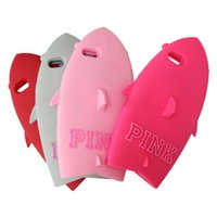Wholesale Cool Design Iphone 5s Cases - 3D Cool Pink Cute Shark Shape Designed Soft Silicone Case Cover for iPhone 5 5S 6 Plus 6plus 4.7inch 5.5inch iPhone6