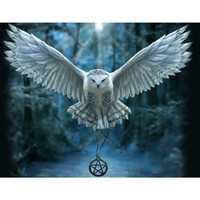 Wholesale Flying Owls - Fly Owl DIY Mosaic Needlework Diamond Painting Embroidery Cross Stitch Craft Kit Wall Home Hanging Decor