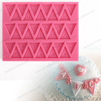 Wholesale Character Silicone Molds - Letter Flag Bunting Mold,fondant silicone molds for cake decorating,fondant character,silicone chocolate mold,bakeware tools