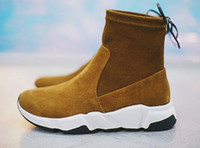Wholesale unisex scrubs - Women girls fashion sport casual canvas sneakers,Speed HIGH Boots,winter all-match scrubs ankle boots boots a black and white fur movement