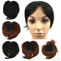 Clip en Bangs Fake Hair Extension Hairpieces False Hair Pieza Clip en el frente Neat Bang para mujer sintético aseado Heat Resistance hair flequillo