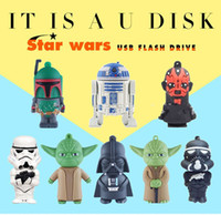 Wholesale Desktop 16gb - 32GB 16GB 8GB 4GB Star Wars cartoon Robot Darth Vader USB memory stick block mobile U disk Swivel mini USB Flash Drives