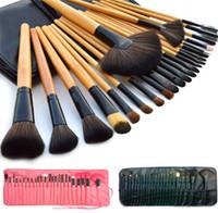 Wholesale Make Up Brushes 24pcs Pink - Professional Makeup Brush 24pcs Brush Set 3color Brushes sets Make Up Tools Portable Full Cosmetic Brush Tool Eyeshadow Lip brush