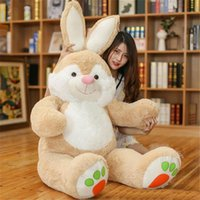 Wholesale Huge Stuffed Monkey Plush - The latest 150cm Huge Soft Cartoon Bunny Plush Toy 59inches Lovely Stuffed Anime Rabbit Doll Pillow Baby Present