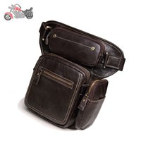 Wholesale Motorcycle Tank Leather - Motorcycle Side Bag Alforjas Moto Backpack Maletas Motocicleta bolsa pierna motocicleta genuine leather ktm kawasaki bag free shipping 103