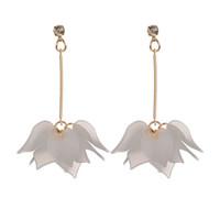 Wholesale fshion jewelry - MissCyCy Fshion 3 Colors Flowers Long Earrings For Women Drop Earrings Rhinestone Brand Jewelry 2017 New Arrival