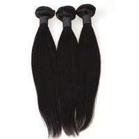 extensiones de cabello chino precios al por mayor-Extensiones de cabello barato precio Extensiones sedosas pelo liso se pueden teñir cabello humano de la Virgen vietnamita / china en línea