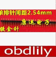 Golden space needle - Single row spacing mm X40P gold plated MM long straight needle can be cut short in column connector