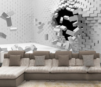 moderner tapetenverkauf groihandel-2017 neue Heiße verkauf 3D kunst kann angepasst werden großformatige wandbild tapete schlafzimmer wohnzimmer TV hintergrund moderne mode weiße ziegel wand papier