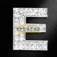 Wholesale crystal stickers - 10pcs Crystal Letters Top Grade Car Auto 3D Emblem Badge Decals Chrome Stickers Hot Sale Good Quality