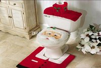 Wholesale Christmas Chair Covers Wholesale - Modern Christmas Santa Claus Bathroom Toilet Seat Cover Decoration Snowman Chair for Home Holiday Gift Supplies