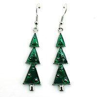 Wholesale Earrings Fashion New Arrival - New Arrival Fashion Charms Earrings Silver Color Dangle Christmas Tree Long Earrings For Women Christmas Gifts Jewelry