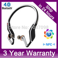 Wireless NFC Bluetooth 4.0 APT-X Voice Control auricolari stereo Headset con vivavoce per iPhone Samsung ect ordine $ 18no