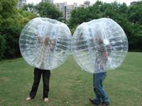 bolas de zorbing al por mayor-4 unids / lote 1.5 m bola de PVC zorb inflable parachoques pelota fútbol zorbing deportes al aire libre envío gratis por Fedex