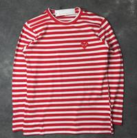 Wholesale Red Shirts Game - 2017 men T Shirt Play Games Kawakubo Red Heart Men Lovers Printed T Shirt solid short sleeve plus