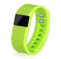 браслет bluetooth часы для iphone оптовых-TW64 смарт-браслет Bluetooth смарт-группы Смарт-часы водонепроницаемый Пассометр сна трекер Монитор активности функция для iphone Android 0