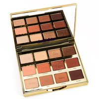 eyeshadow palette venda por atacado-Frete Grátis T em Flor Brindado 12 Cores À Prova D 'Água Matte e Shimmer Sombra Paleta para As Mulheres Compõem Cosméticos