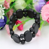 Wholesale Carved Jade For Jewelry - Wholesale-Wholesale Carve Natural Black Stone Bracelets Balck Jade For Men and Women jade jewelry