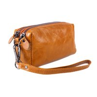 Wholesale Womens Travel Purse - Female Travel Toiletry Bags Brands Genuine Leather Cosmetic Bag Womens Makeup Travel Purse Women Bag Phone Storage Organizer Bag