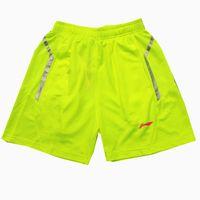 Wholesale Woman Line Xxl - Li-Ning Green Badminton Shorts,Polyester Quick-drying breathable men women wear Li Ning Table Tennis shorts,lining pingpang shorts M-4XL