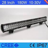 """Wholesale 28 Led Light Bar - 28"""" Inch Cree 180W LED Light Bar For Offroad 4*4 SUV Jeep ATV Tractor"""