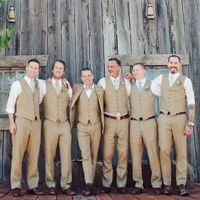 ingrosso migliori uomini di giubbotti-New Style Groom Gilet Khaki Groomsmens / Best Man Gilet Custom Made Size e colori Five Buttons Wedding / Prom / Dinner Gilet K228
