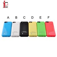 Wholesale External Backup Battery Back Case - For iPhone 5 5C 5S iPhone 5 battery case 2200mAh Power Bank battery case Backup back extended External Battery Charger case Cases