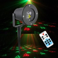 Atacado-Suny RG Laser Projector Remoto 12 Patterns Outdoor Waterproof Led Light Show Stage Lighting Effect Pico Projector