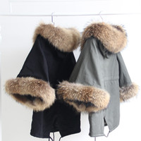 Wholesale raccoon animal for sale - Real raccoon furs Ladies leisure coat cape Poncho Women Loudspeaker Sleeve Cloak winter Coat Japan Korean
