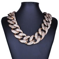 Wholesale Golden Thick Necklaces - Wholesale Golden Silver Europe and America Fashion Jewelry Punk Thick Short Alloy Link Chains Men Women Unisex Necklace HD-159