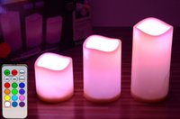 Wholesale Color Changing Candles Remote - Flameless LED Candles Scented Wax with Remote Color Changing Wedding Festival Good Quality Brand New Hot Sales