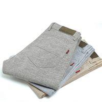 Wholesale Linen Pants Wholesale - Wholesale- BDLJ 2017 Summer New Men's Linen Casual Slim Fit Pants Fashion Business Dress Thin Section Casual Pants Male Free shipping