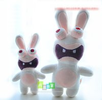 Wholesale Rayman Rabbids Toys - Free Shipping Rayman Raving Rabbids plush toy doll crazy rabbit cute stuffed toy for children gift Christmas present