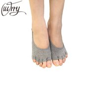 Wholesale Woman Peds - Wholesale-OUIRRY Women Deodorant Socks Cotton Elastic Invisible Liner No Show Peds Low Cut Peep Toes Open Toe Socks Fashion 5 Colors