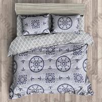 Wholesale Circle Duvets - Bohemian 4pcs 3D Bedding Sets Boho Mandala Duvet Cover Set Circle Pattern Bedsheet Set Queen Size Polyester Folk-custom Bed Set