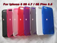 Wholesale Iphone Silicone S Line - Fashion S line Anti-skid Soft TPU Case For For Iphone 6 6S 4.7   6S Plus 5.5 6SPlus I6S Silicone Crystal Back Protective Cover Skin