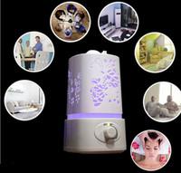 atomizadores rohs al por mayor-La luz de la noche del humidificador de aire del difusor de Aromatherapy del purificador del aire con Carve diseña el difusor ultrasónico del aroma